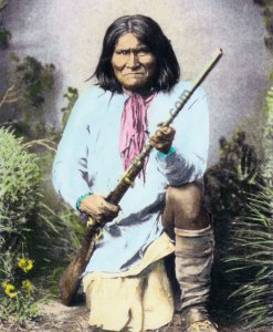 "Geronimo, Chief ""Goyahkla"" Chiricahua Apache Native American Indian (rifle)"