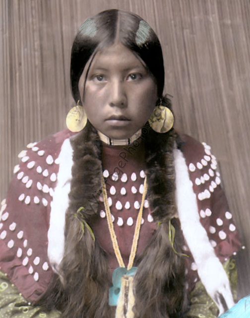Idaho Kalispel Native American Indian Girl