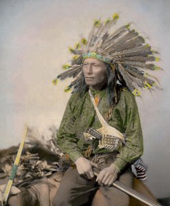 Little, Oglala Sioux Native American Indian 1890
