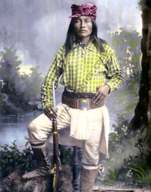 Yellow Coyote, Ba Keitz Ogie, Chiricahua Apache Native American Indian