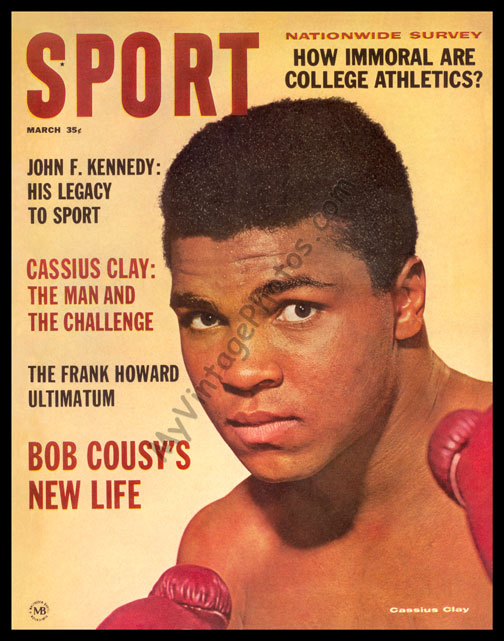 Cassius Clay, SPORT magazine September 1964