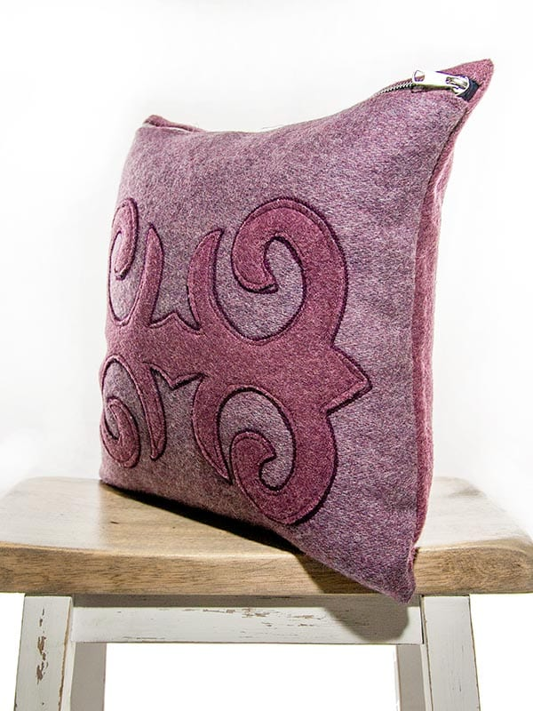 Moroccan Burgundy Mauve Throw Pillow  My Vintage Pillow