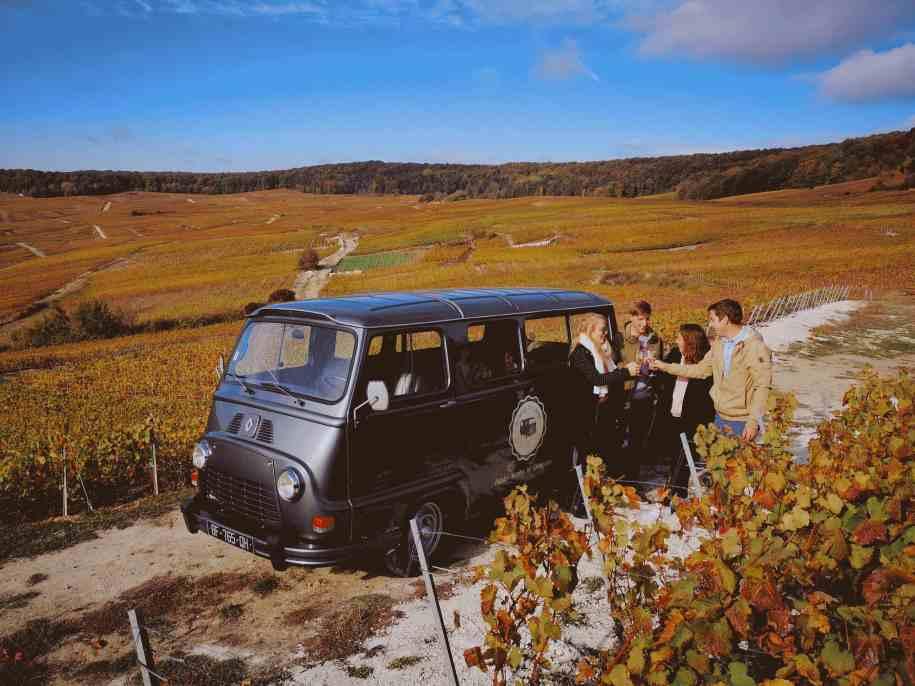 Champagne Vintage Tour Balades insolites en Champagne Estafette Reims Epernay