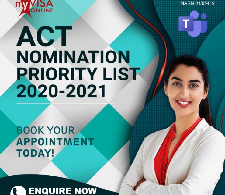 ACT Priority List 2020-2021