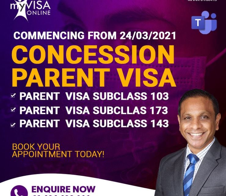 COVID-19 Parent Concession Visa Commencing from 24/03/2021