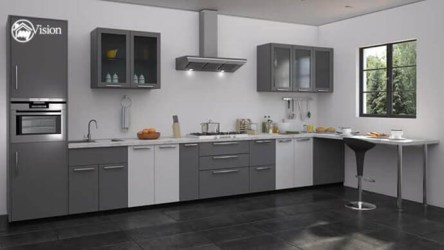 kitchen modular designs kitchens hyderabad interior grey cabinets different shades colors manufacturers interiors room pink items cabinet moduler monochrome sixties