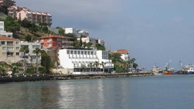 Seaside view of Kusidasi Turkey