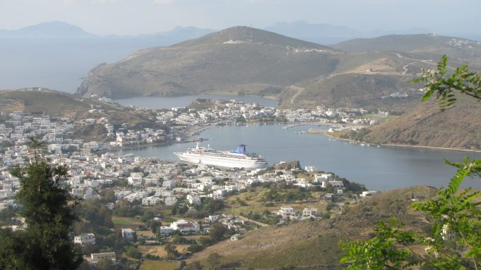 Areal view of Patmos harbour