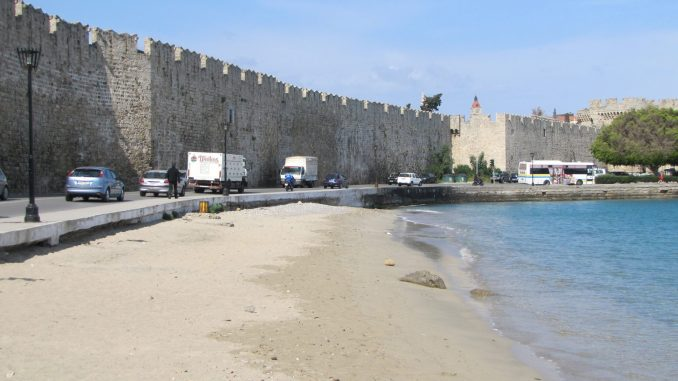 On the island of Rhodes