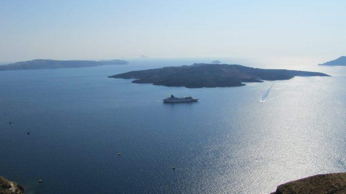 Ocean view in Santorini