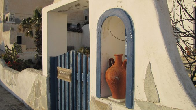 Cliff house in Santorini