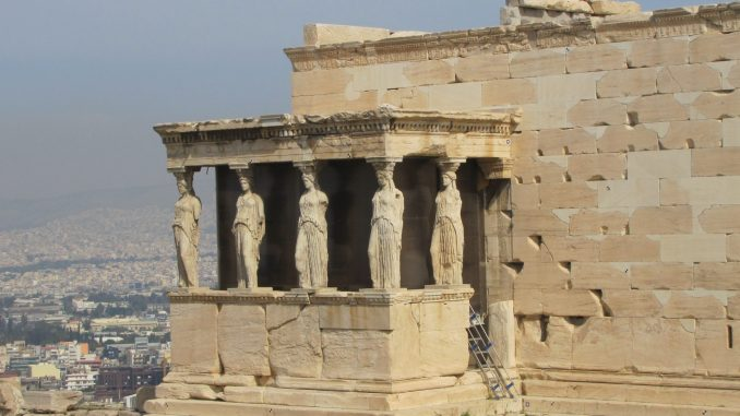 A better view of the ruins at the Acropolis