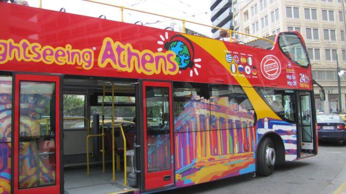 Athens tour bus