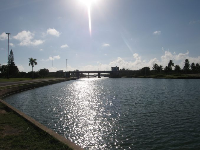 The canal separating the Varadero Peninsula from the mainland
