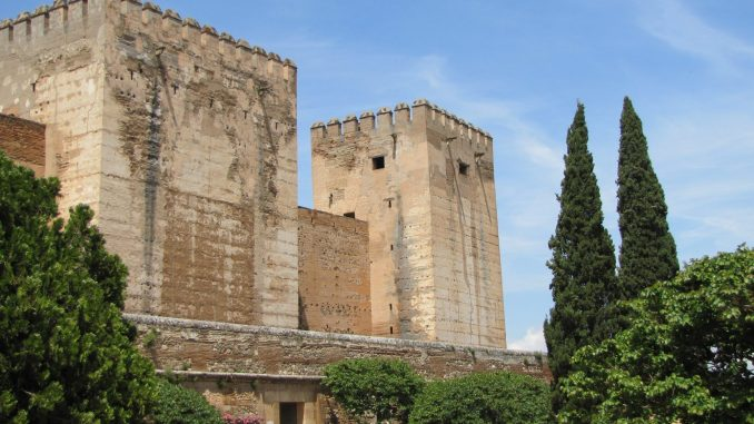 Buildings at the Alhambra in Spain