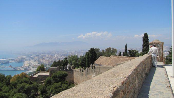 The fortress at Malaga