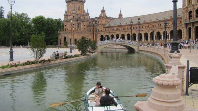The moat in Seville Spain