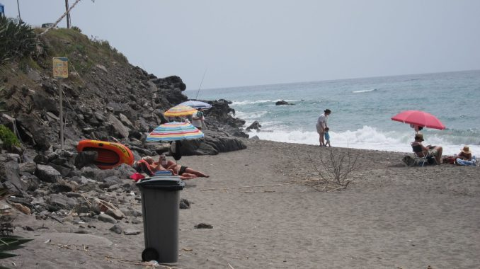 The beach east of Malaga
