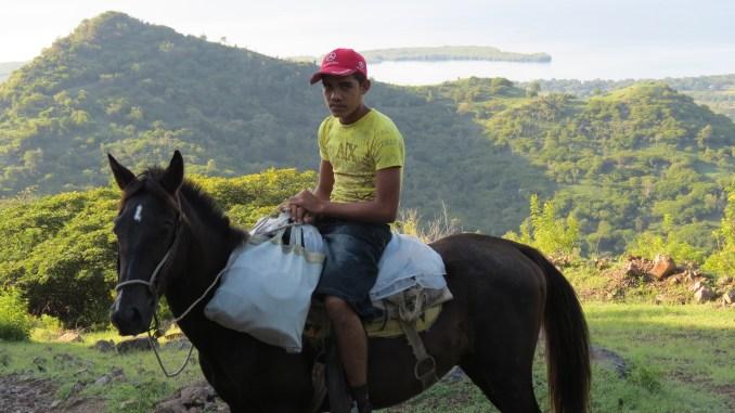 A local horseman in the mountains near Maria del Portillo, Cuba