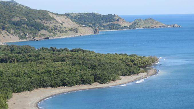 Southern Cuba coast near Maria del Portillo