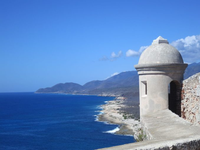 View from the Morro Fortress at Santiago de Cuba