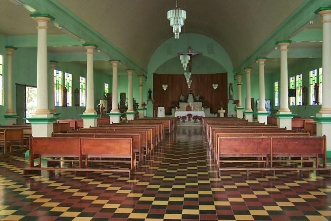 Inside the church at Fortuna