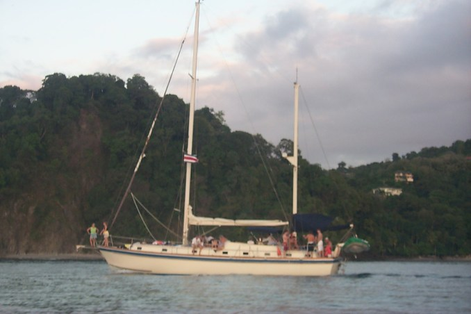 Closer view of the sailboat