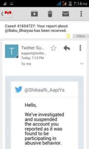 Screenshot posted by @shikaari_aapiya