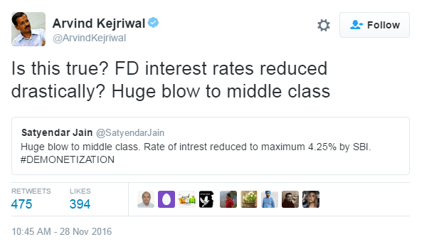 Kejriwal, with help of a Delhi minister of AAP govt, spreading minformation.