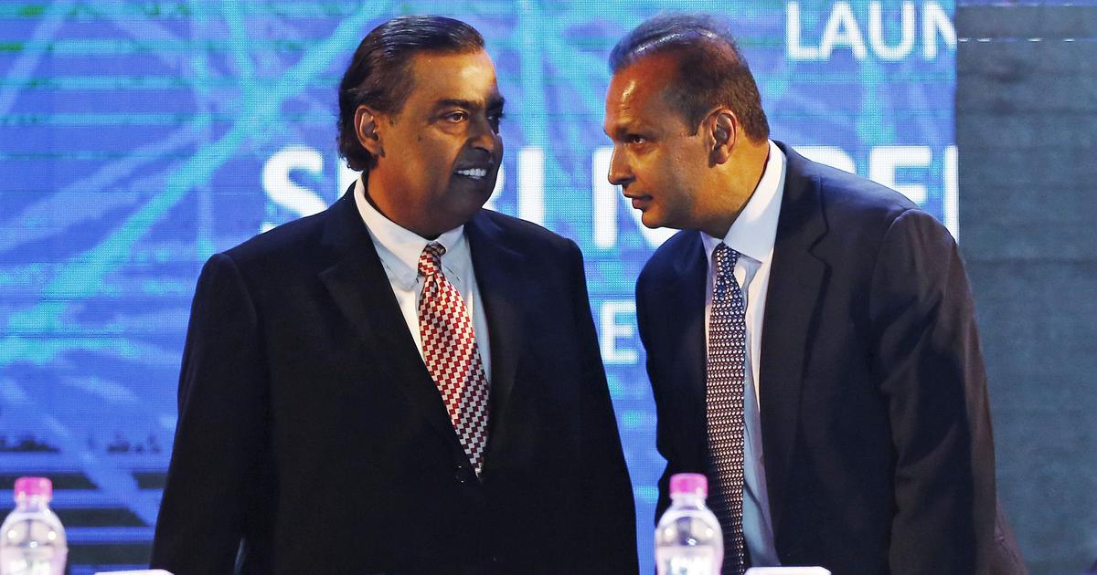 Mukesh Ambani pays the debts for his brother Anil Ambani
