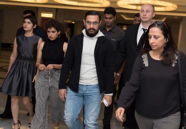 Aamir Khan at Dangal Promotion