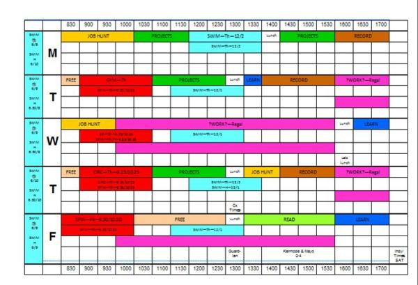 timetable mywac