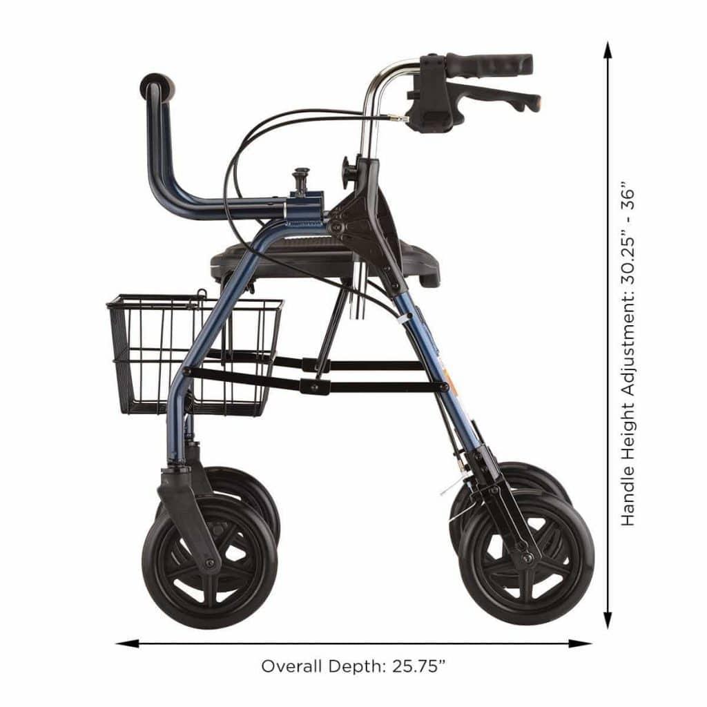 nova medical product mighty mack heavy duty rolling walker - Nova Walkers