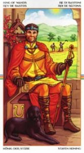 King of Wands - Creative, inspiring, forceful