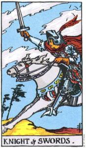 Knight of Swords Rider Waite MyWanderingFool Tarot