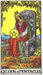 Queen of Pentacles Rider Waite MyWanderingFool Tarot