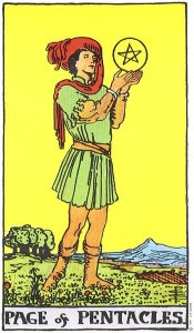 The Page of Pentacles MyWanderingFool Tarot