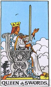 The Queen of Swords Rider Waite My WanderingFool Tarot