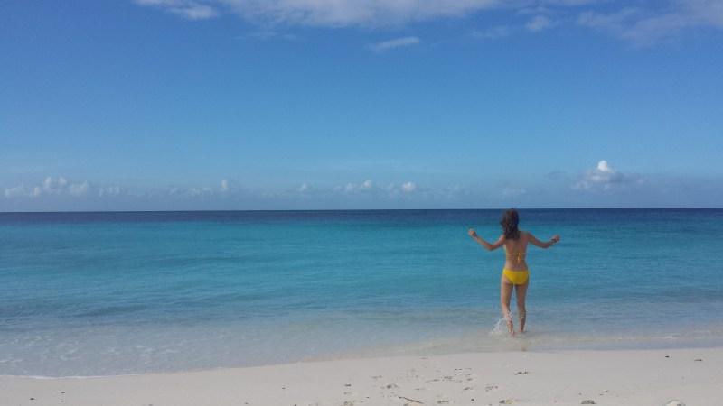 Curacao strand gele bikini