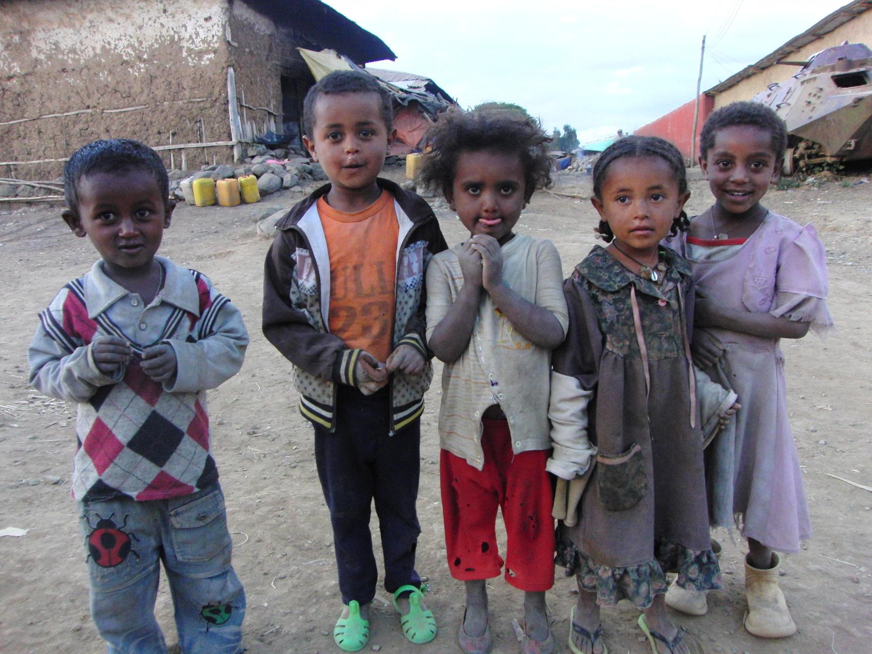 Kindjes in Ethiopië