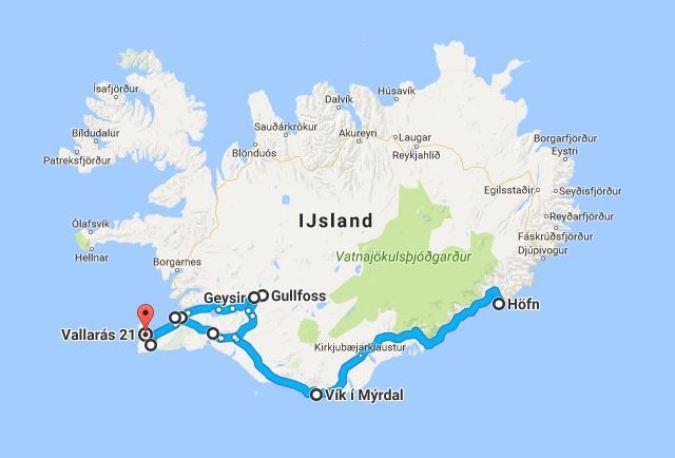 Route IJsland