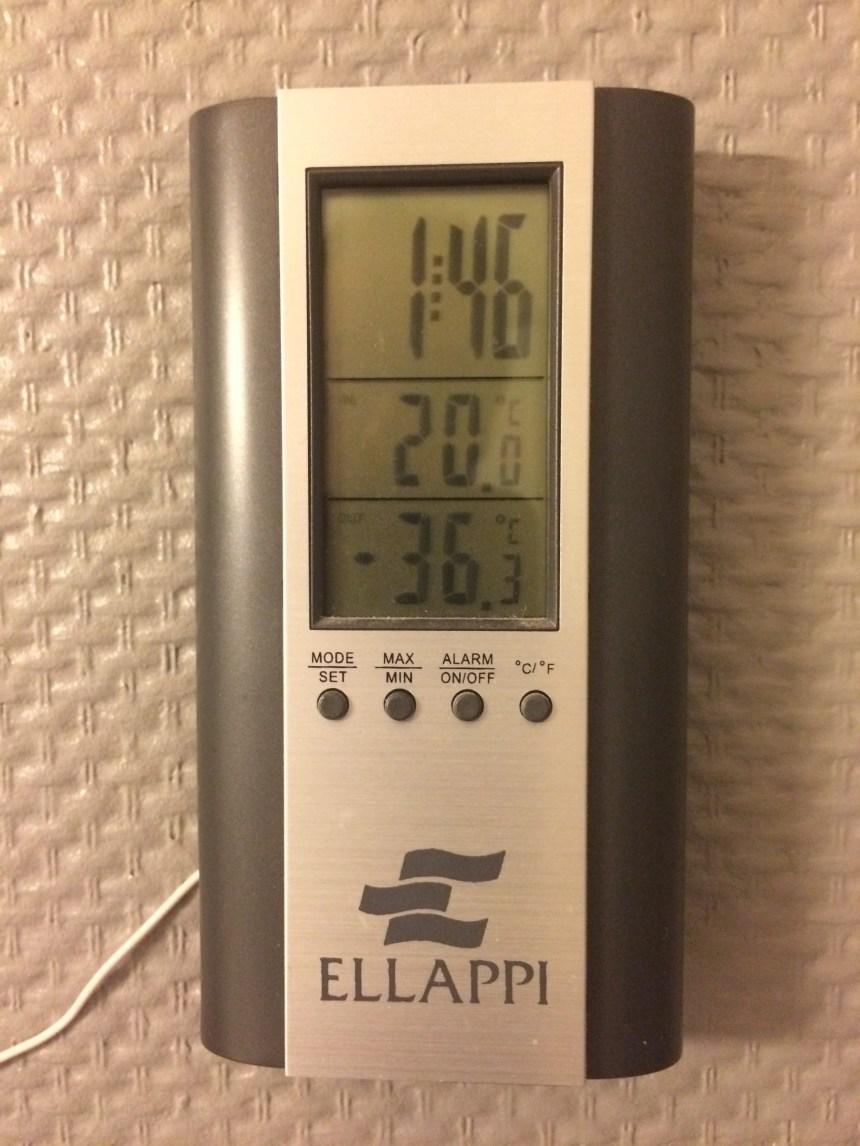 Temperatuur in Ivalo Finland