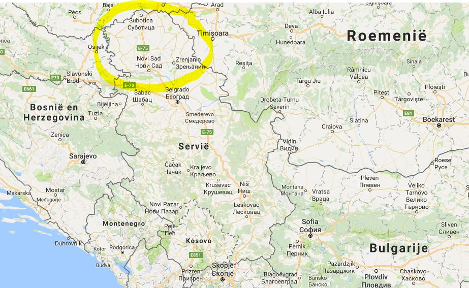 Waar ligt Novi Sad?