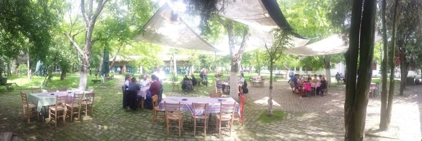 De buitentuin van Salas 137 in Servië