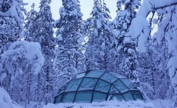 Lapland sneeuw Kakslauttanen Finland