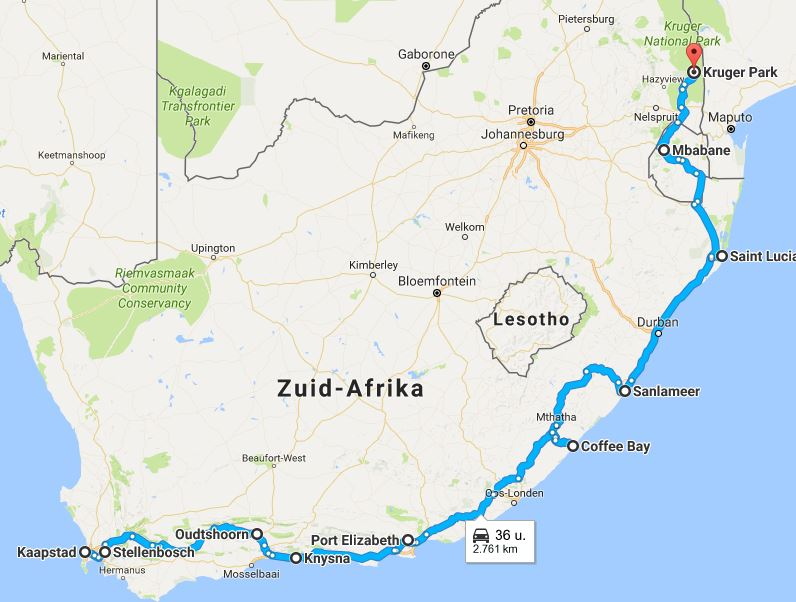 route-zuid-afrika