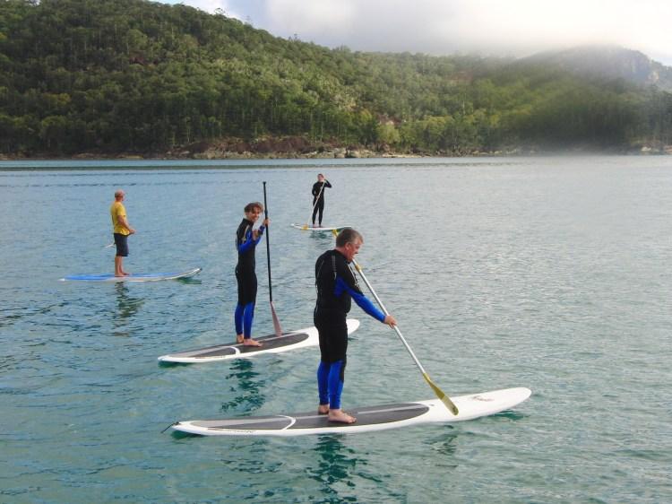 great barrier reef australie peddleboarding