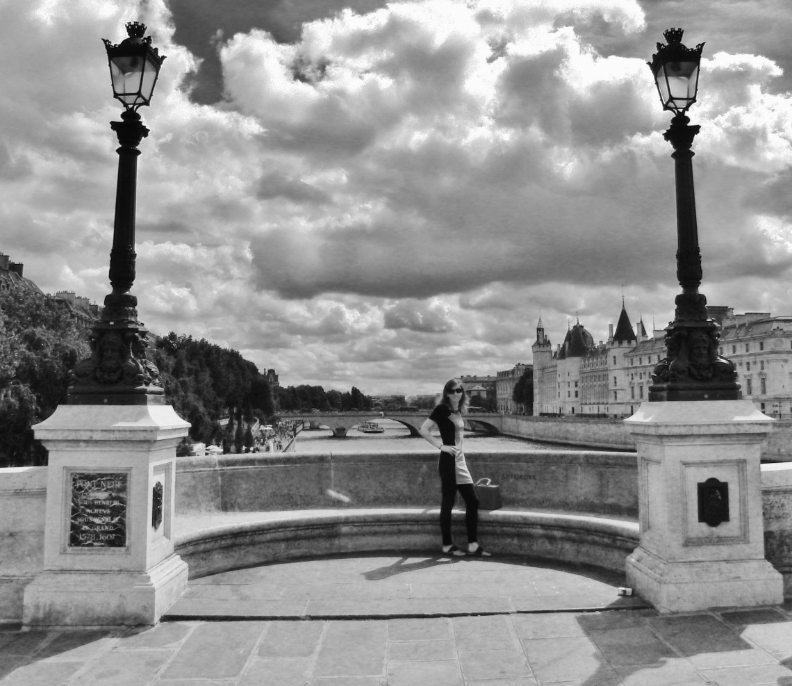 Op een van de vele bruggen Parijs Frankrijk