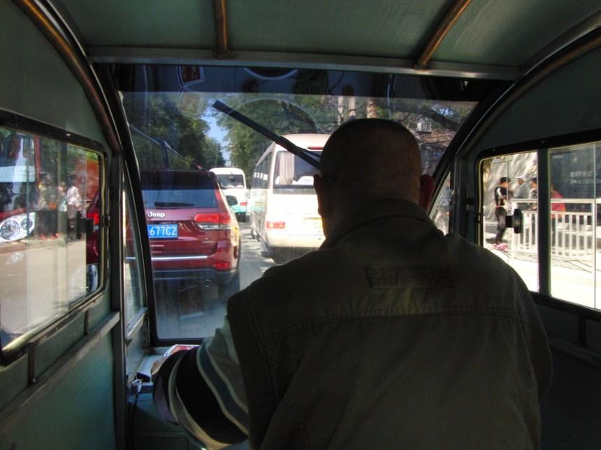 Vroem vroem in de tuktuk Beijing China