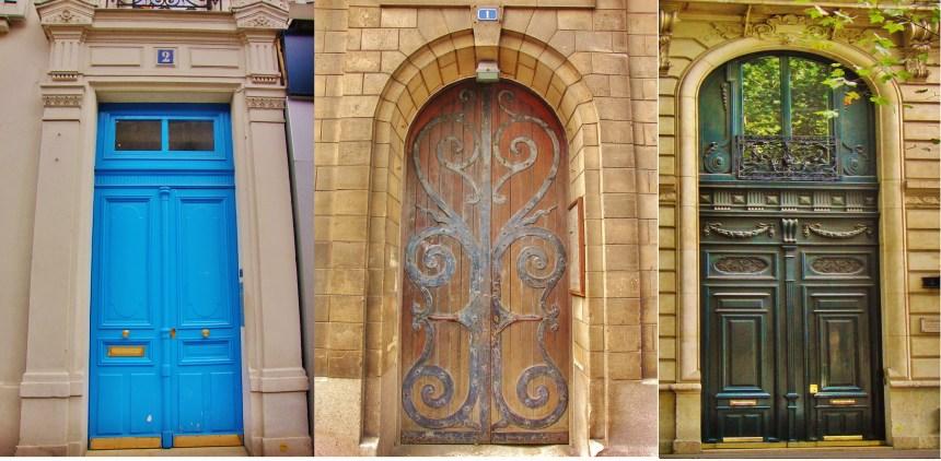 Oude deuren van Parijs Parijs Frankrijk